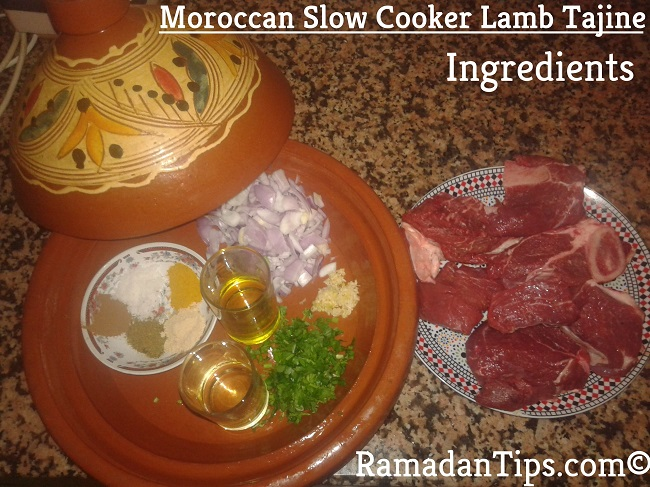 Moroccan Slow Cooked Lamb Tagine Ingredients
